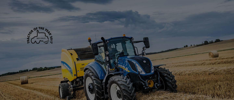 Tractores New Holland  T4 y T5 Comodidad y fiabilidad