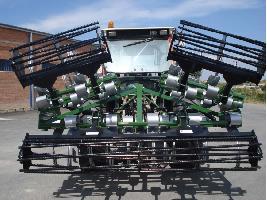 Vibrocultivador hidráulico plegado horizontalmente de 3,6m a 5,5m Gaher Metalic