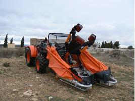 VM00 / VM1 - XT10 con plataforma tubular aluminio PNA Agromelca