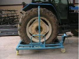 Intercambiadora de ruedas telescópica con virador Vibroland