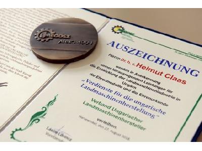 La Asociación de Fabricantes Húngaros de Maquinaria Agrícola rinde homenaje a Helmut Claas - 1