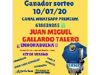 Ganador Sorteo 10/07/20 CANAL WHATSAPP PREMIUM 618639265
