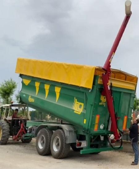 Sinfin para remolque 5,4m largo y 40-60 ton/hora