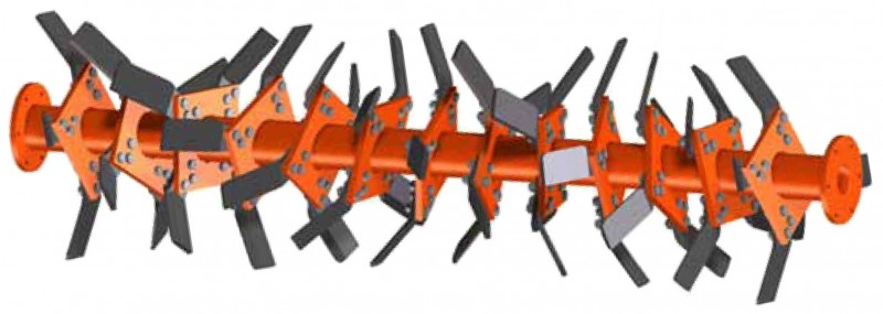 Rotor especial de MACHETES > SPRM de 185 a 260 cm. para tractores de 70 a 90 HP