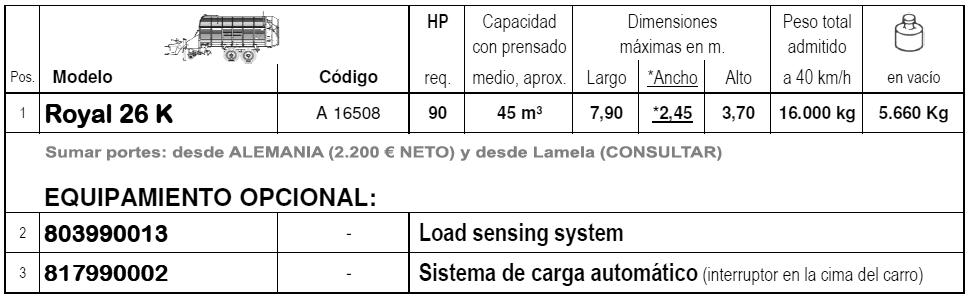 Bergmann ROYAL 26K > Remolque AUTOCARGADOR - 45 m³ - 8