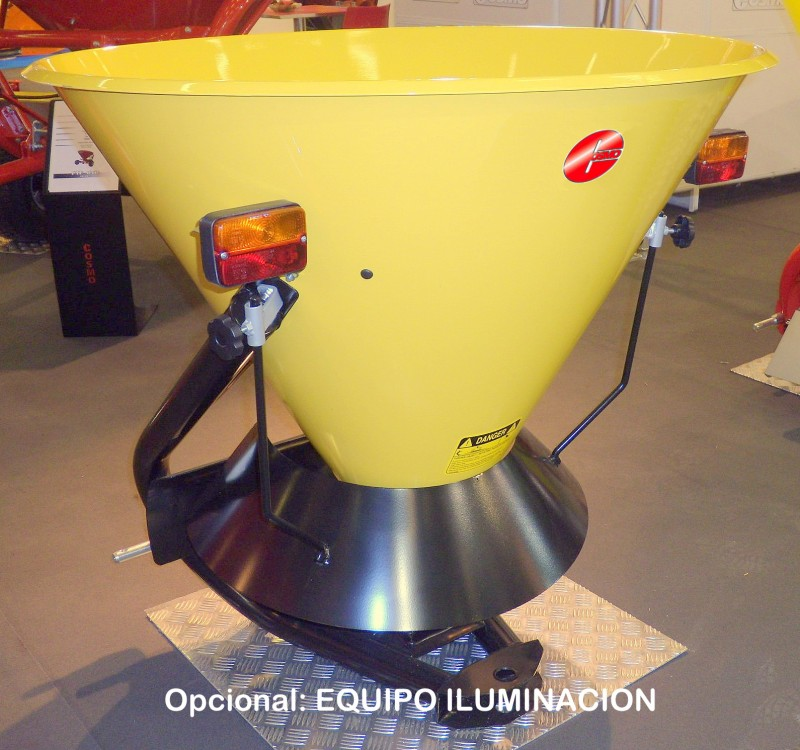 > CPLS - ESPARCIDOR DE SAL - Centrífugo 1 Disco - Capacidad 300 / 345 litros - Apertura manual