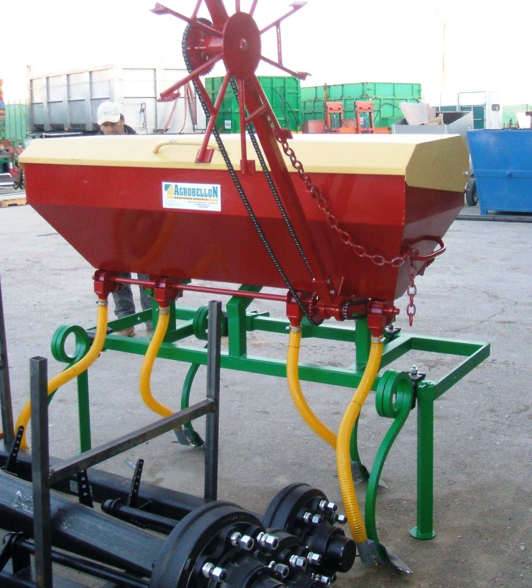 Implement with Fertilizer