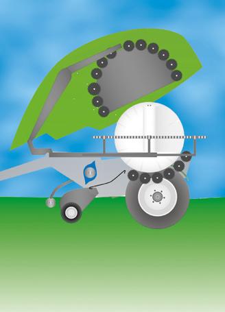 Rotoempacadora con encintadora integrada
