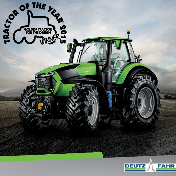 "Serie 9 DEUTZ-FAHR galardonada con el ""Golden Tractor for the Design"""