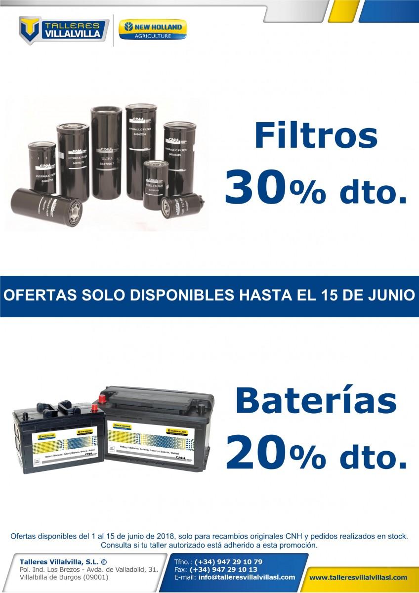 OFERTA ESPECIAL EN FILTROS Y BATERÍAS