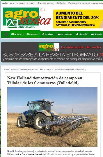 New Holland demostración de campo en Villalar de los Comuneros (Valladolid)