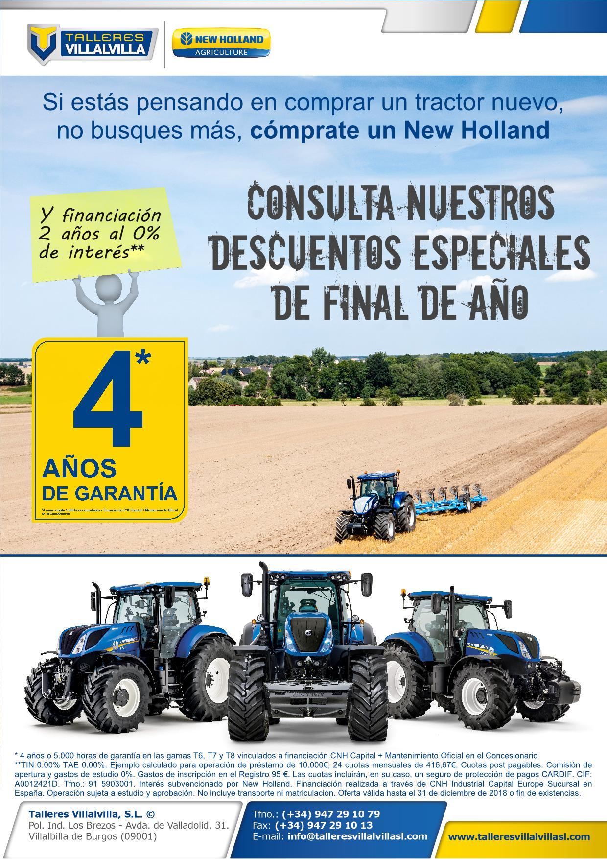 DESCUENTOS ESPECIALES DE FINAL DE AÑO DE TRACTORES
