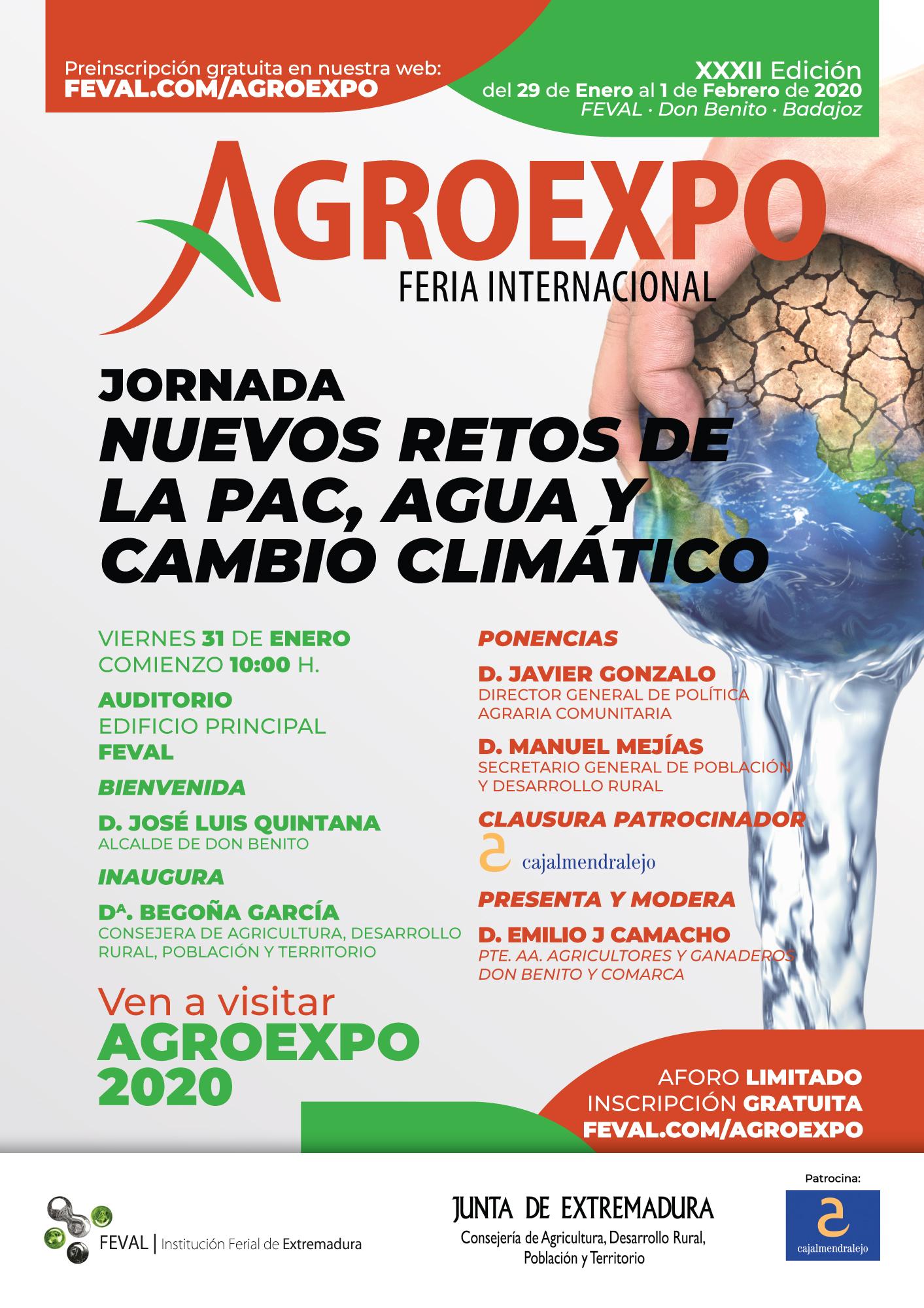 Agroexpo abordará los nuevos retos de la Política Agraria Comunitaria orientada a la obtención de resultados