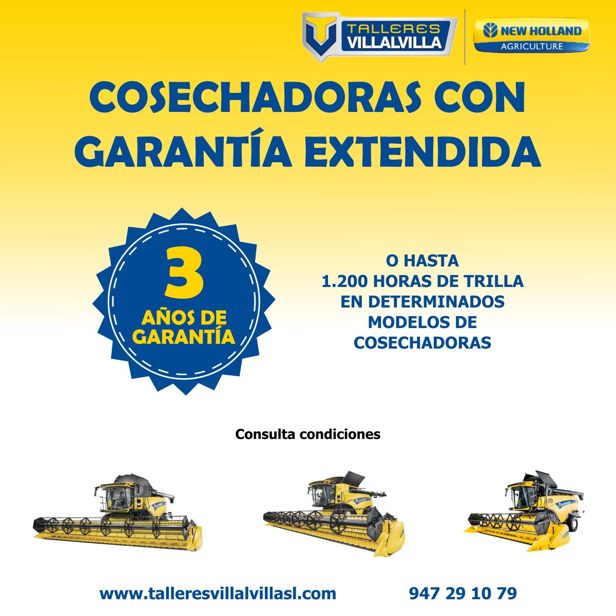 COSECHADORAS CON 3 AÑOS DE GARANTÍA