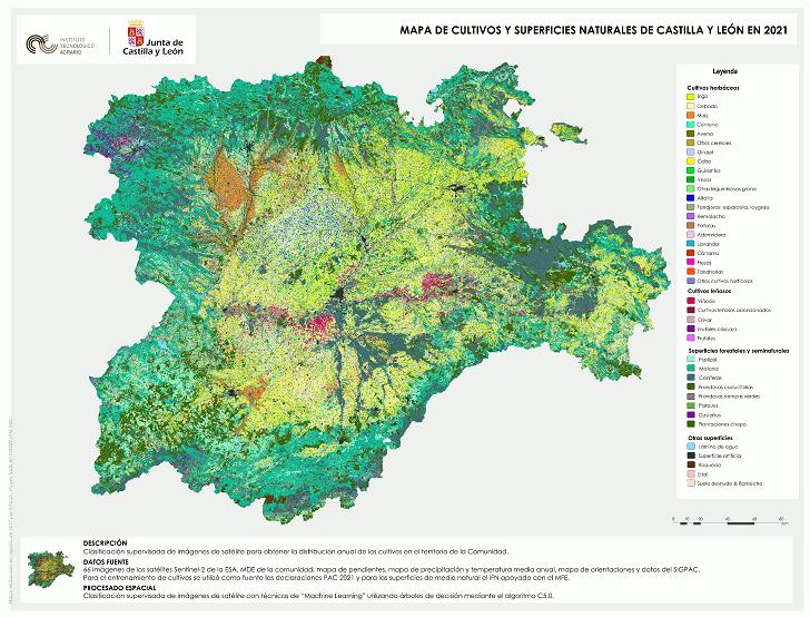 El ITACYL publica la versión definitiva de 2021 del Mapa de cultivos de Castilla y León - 0
