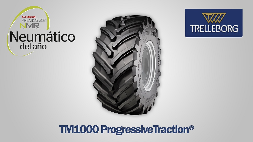 El Trelleborg TM1000 ProgressiveTraction®, mejor neumático agrícola de 2021 en los premios de la revista NMR.