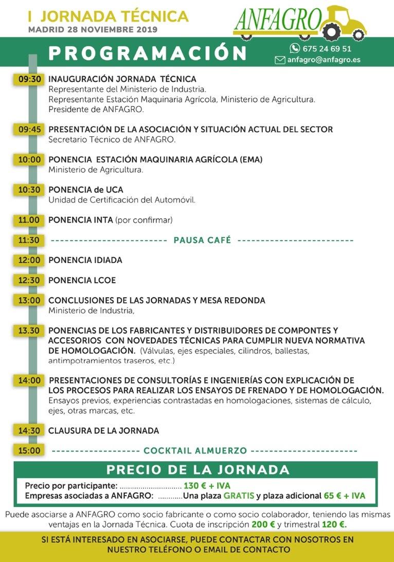 I JORNADA TÉCNICA organizada por ANFAGRO. - 1