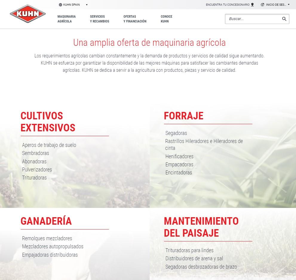 Kuhn Ibérica renueva su web con un uso más sencillo, rápido e interactivo - 1