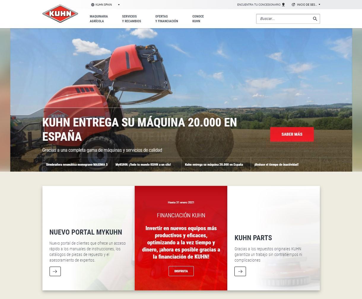 Kuhn Ibérica renueva su web con un uso más sencillo, rápido e interactivo - 0