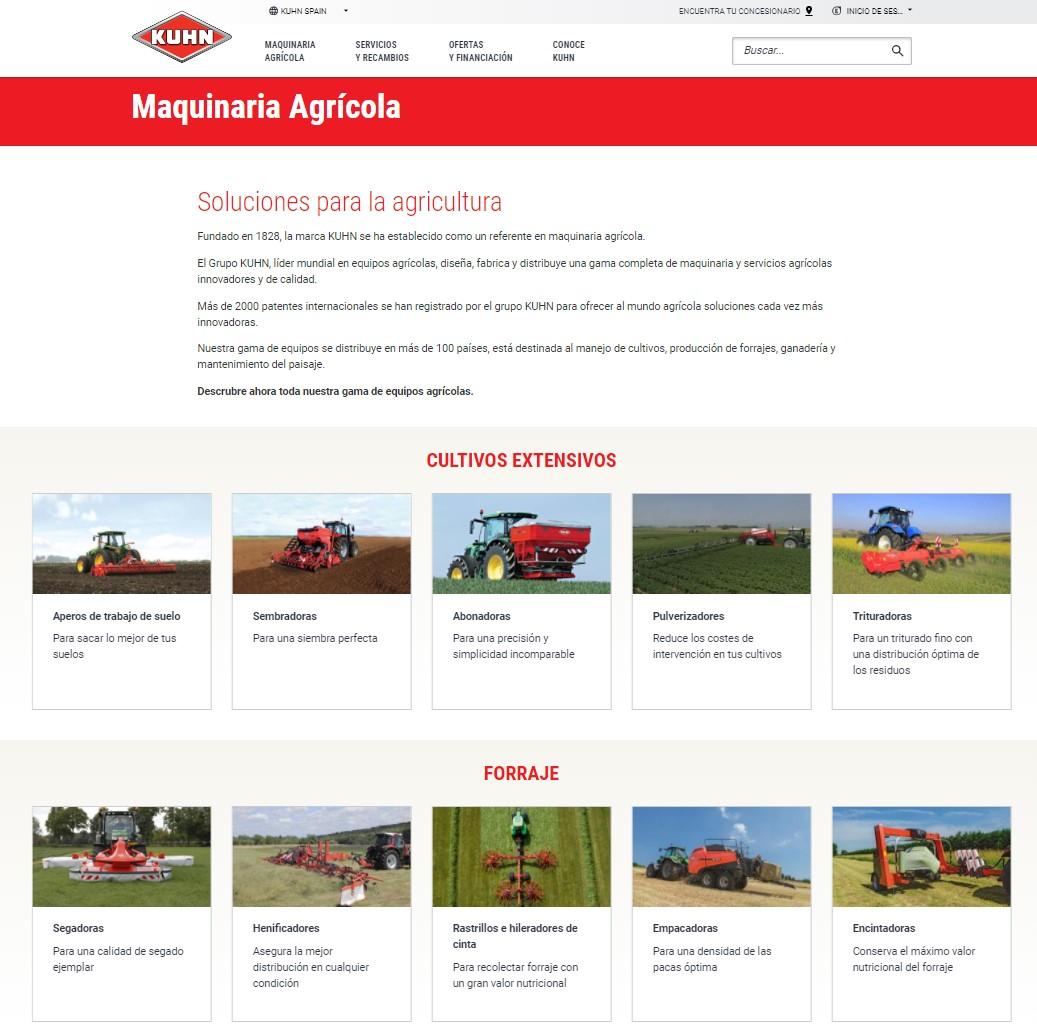 Kuhn Ibérica renueva su web con un uso más sencillo, rápido e interactivo - 3