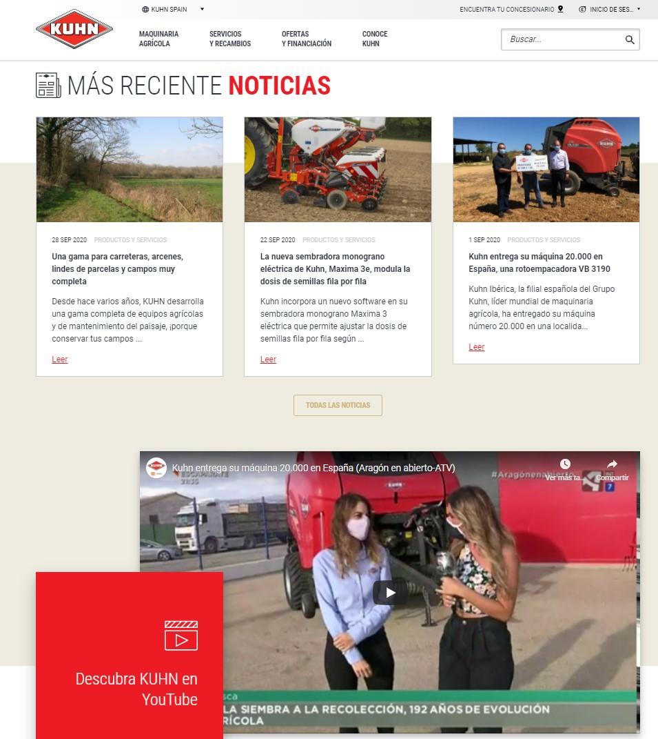 Kuhn Ibérica renueva su web con un uso más sencillo, rápido e interactivo - 2
