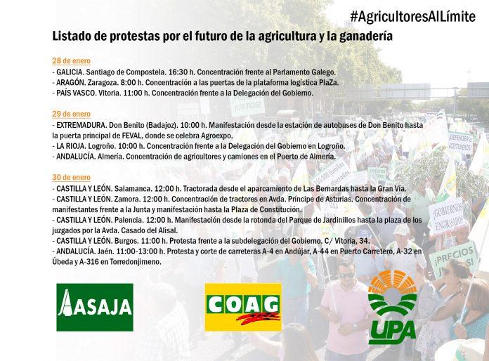 Los agricultores se movilizan en defensa de su futuro