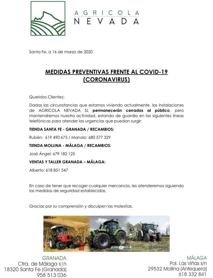 MEDIDAS PREVENTIVAS FRENTE AL COVID-19
