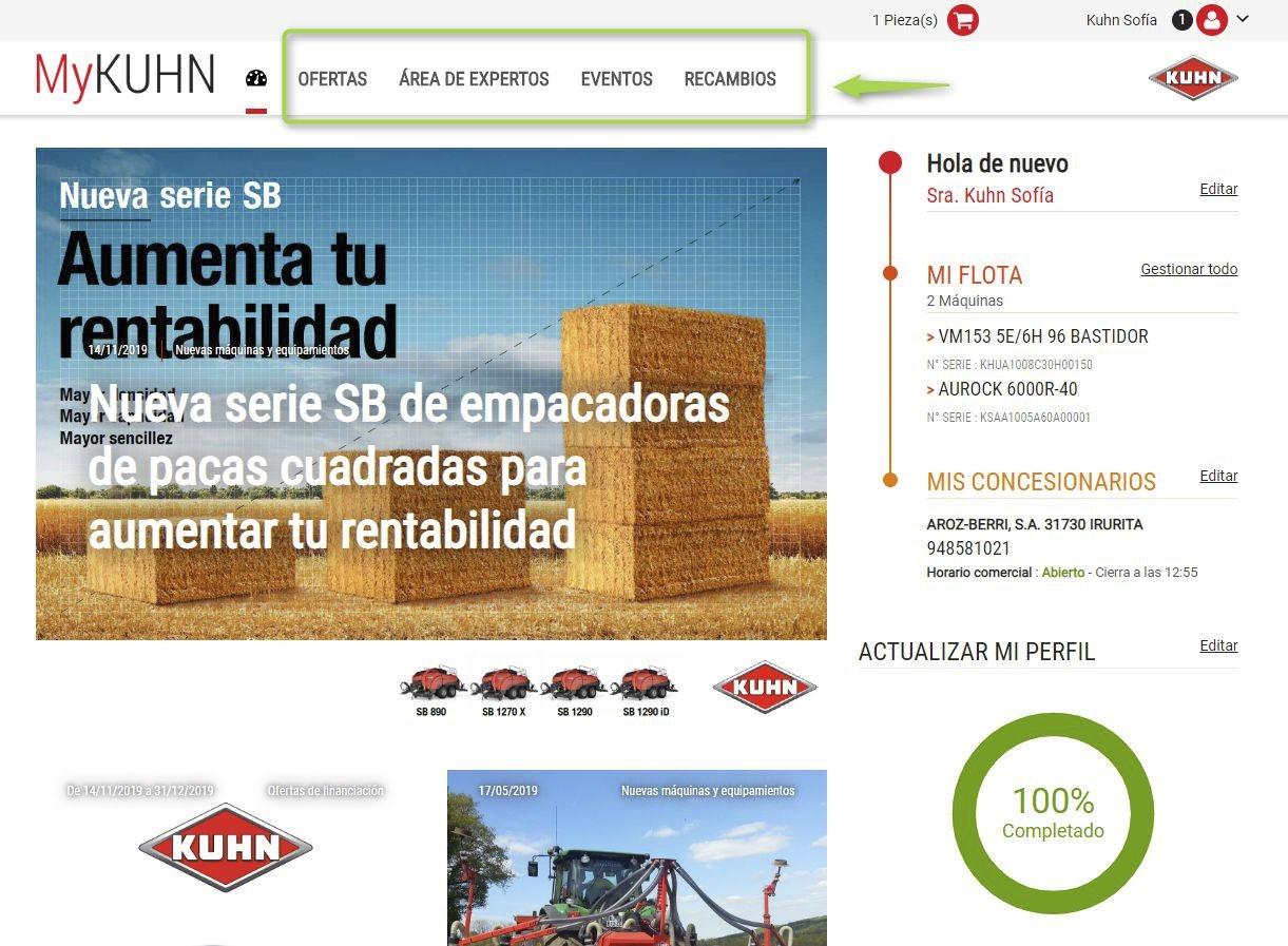 MyKUHN: la web que permite al cliente de Kuhn pedir recambios sin salir de casa - 1