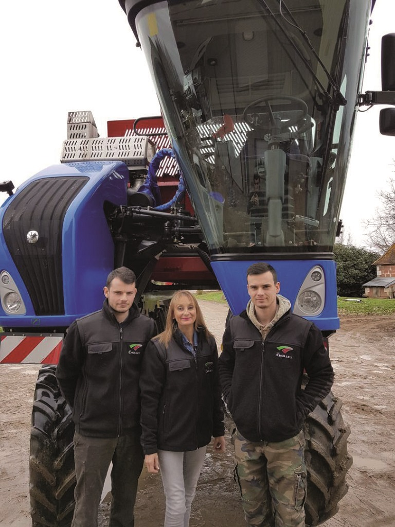 New Holland introduce una nueva malla despalilladora para sus vendimiadoras Braud