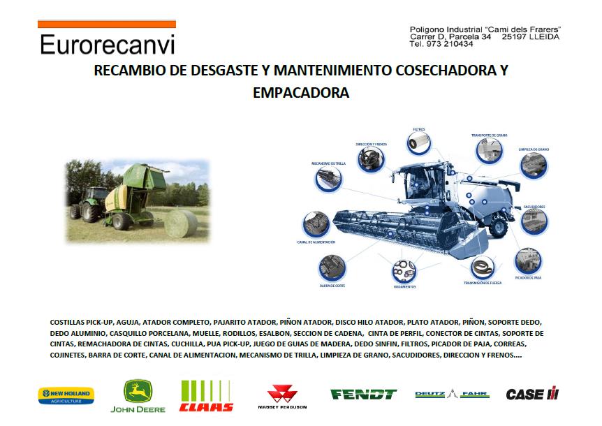 RECAMBIO COSECHADORA Y EMPACADORA