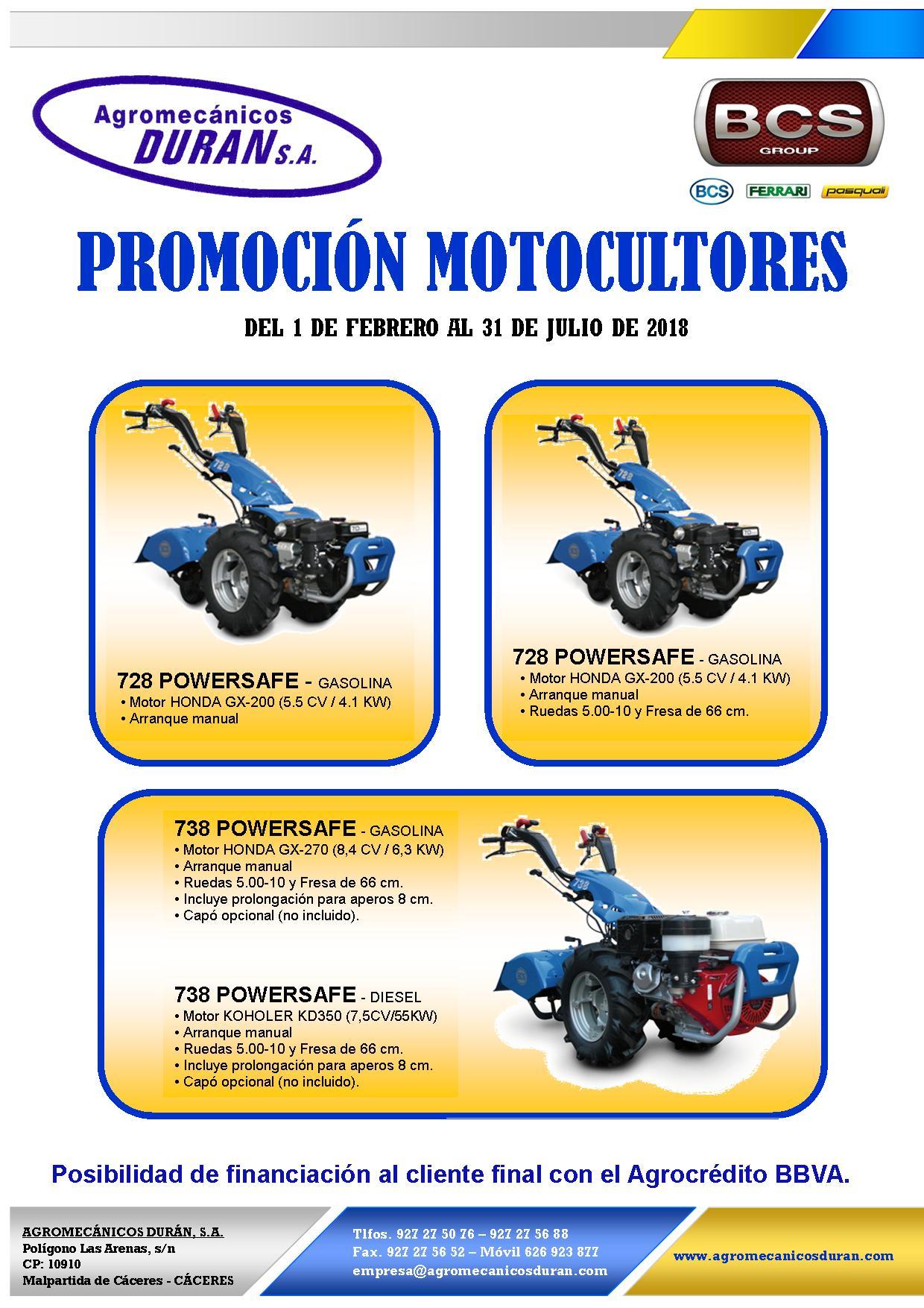 PROMOCIÓN MOTOCULTORES