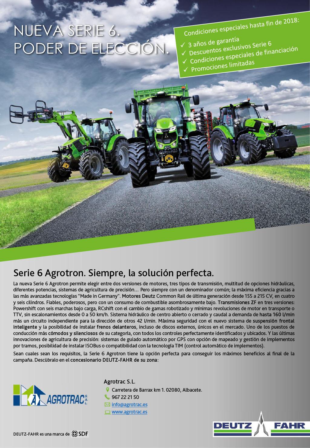 Serie 6 Agrotron. Siempre, la solución perfecta