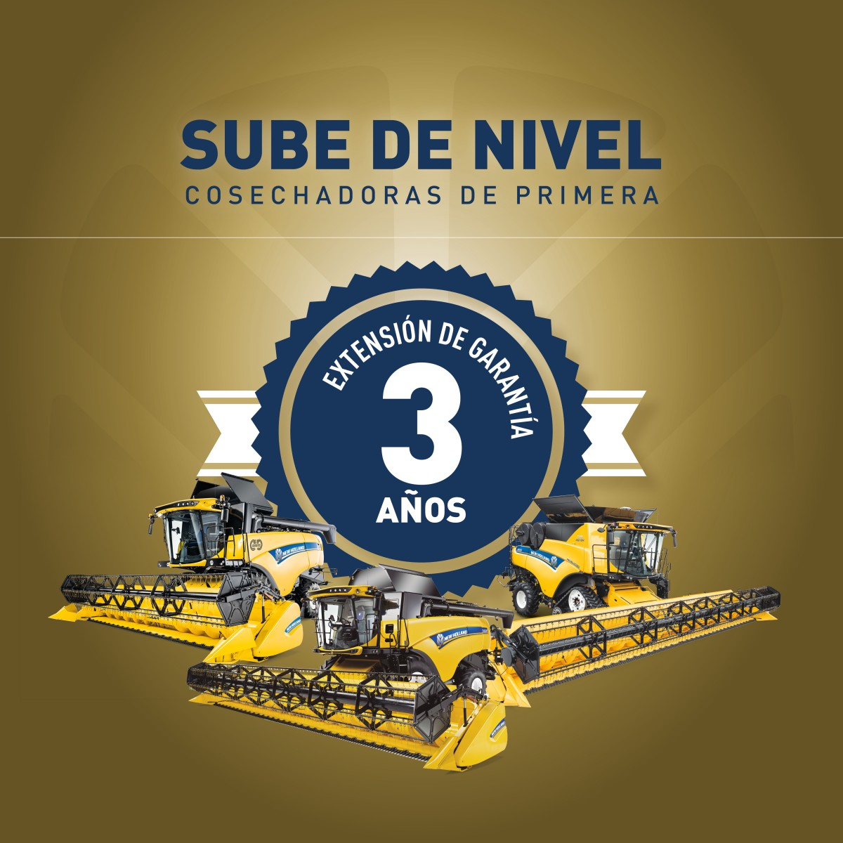 Sube de nivel con cosechadoras New Holland